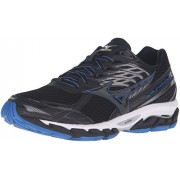 Mizuno Men's Wave Paradox 3 Running Shoe, Black/Skydiver/White, 9 D US