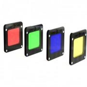 Lume Cube - RBGY Color Pack, Gel Rosu, Verde, Albastru si Galben