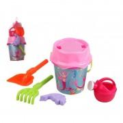 Geen Roze zeemeerminnen strandemmer/zandbak speelset voor kinderen