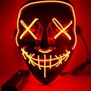 MASKER MET LED VERLICHTING - THE PURGE - ROOD