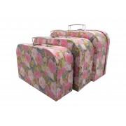 Set koferče OP988 1/3 ruže