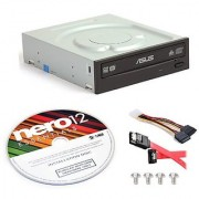 Asus DRW-24B1ST-KIT 24x Internal DVD Burner + Nero 12 Essentials Burning Software + Sata Cable Kit
