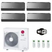 LG Condizionatore Quadri Split 9+9+9+9 Btu ARTCOOL Mirror 9000 9000 9000 9000 R-32 MU4R27.U40 2.5+2.5+2.5+2.5 kW A++ A+ WiFi