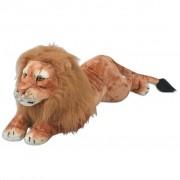 vidaXL Плюшена детска играчка-лъв, кафява, XXL
