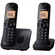 Безжичен DECT телефон Panasonic KX-TGC212FXB, Черен, 1015129