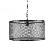 Maisons du Monde Lámpara de techo industrial negra de metal enrejado Diám. 55 cm LOUIS