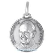 medaglia religiosa in argento papa francesco 21 mm