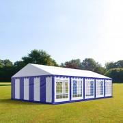 taltpartner.se Partytält 5x10m PVC 500 g/m² blå-vit vattentät