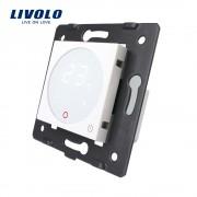 Modul termostat Livolo pentru sisteme de incalzire electrice fara rama sticla, alb