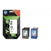 HP Tinteiro Deskjet C9351A + C9352A Pack de nº21+ nº22