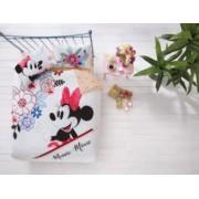 Lenjerie de pat 2 persoane Tac Disney Minnie Mouse watercolor 100 bumbac ranforce 4 piese