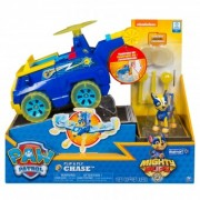 Paw Patrol Chase Set 2 in 1 Vehicul Flip And Fly si figurina