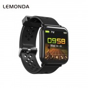LEMONDA D6 Smart Bracelet 1.3-inch Color Screen Waterproof Heart Rate Monitor Bracelet for Android iOS - Black
