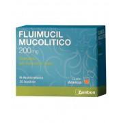 Zambon Fluimucil Mucolitico 200mg Granulato Soluzione Orale Trattamento Affezioni Respiratorie 30 Bustine