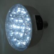 Lanterna reincarcabila tip bec economic cu leduri soclu e27