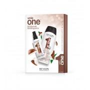 Revlon Uniq One Coconut neoplachovací maska na vlasy 150 ml + šampon 300 ml dárková sada