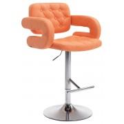 CLP Taburete de tela Dublin , naranja naranja, altura del asiento