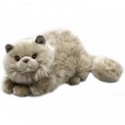 Pluche grijze Perzische katten/poezen knuffel 30 cm - luxe kat/poes knuffels