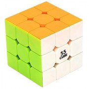 55cube Never-Pop 3x3 Speed Cube Stickerless 3x3 Cube Eco-Friendly Magic Cube