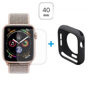 Conjunto de Protecção Hat Prince para Apple Watch Series 5/4 - 40mm - Preto