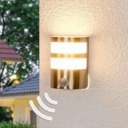 Lampenwelt.com Applique ext. LED avc détecteur de mouvement Lucja - LAMPENWELT.com