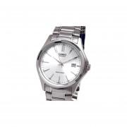 Reloj Casio Mtp-1183a Cristal Duro Inox-Plateado.
