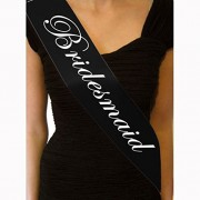 Bridesmaid, 5 Pcs : GOOTRADES 5 Pcs Black Hen Night Sash Party Sashes Do Accessories Bride To Be Out Girls Deluxe Bling (Bridesmaid)