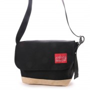 マンハッタンポーテージ Manhattan Portage Suede Fabric Vintage Messenger (Black) レディース