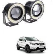 Auto Addict 3.5 High Power Led Projector Fog Light Cob with White Angel Eye Ring 15W Set of 2 For Nissan Qashqai