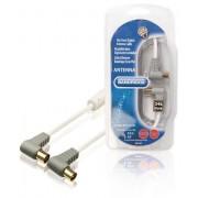 Cavo Coax 100 dB ad Angolo Coax Maschio - Femmina Coax (IEC) 3.00m Bianco Bandridge