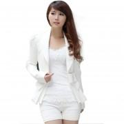 Blazer Estructura Para Mujer-Blanco