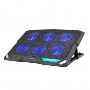 TeckNet N7 - охлаждаща ергономична поставка с 6 вентилаторa за Mac и преносими компютри (черен)