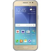 "Telefon Mobil Samsung Galaxy J2, Procesor Quad-Core 1.3GHz, Super AMOLED Capacitive touchscreen 4.7"", 1GB RAM, 8GB Flash, 5MP, Wi-Fi, 3G, Dual Sim, Android (Auriu) + Cartela SIM Orange PrePay, 6 euro credit, 4 GB internet 4G, 2,000 minute nationale si int"