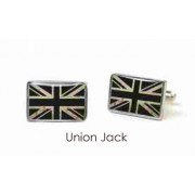 Tyler & Tyler Stencilart White Bricks Cufflinks Union Jack