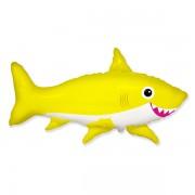 """Fólia lufi, nagyforma, cápa, sárga, 24"""""""