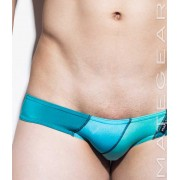 Mategear Ran Kwang Active I Flat Front Reduced Sides Extremely Sexy Mini Boxer Brief Underwear Sky Blue/Turquoise 1340602