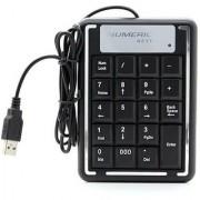 Techvik 19 Key Number Numeric USB Keypad MINI Keyboard For Laptop Notebook PC Computer