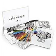 Crayola Color Escapes Coloring Pages & Pencil Kit Nature Edition 12 Premium Pages 12 Fine Line Markers 50 Colored Pe