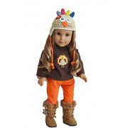 My Brittany's Thanksgiving Day Turkey Outfit for American Girl Dolls