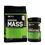 optimum nutrition serious mass plus creatina 5.5 kg
