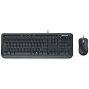 Kit Tastatura Microsoft si Mouse Wired Desktop 600 Business (Negru)