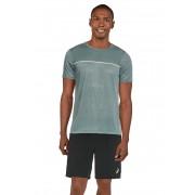 Asics T-Shirt, Rundhals, gerader Schnitt blau