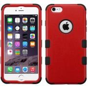 Funda Doble Protector Case Uso Rudo para iPhone 6 Plus-Rojo