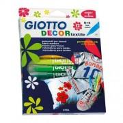 Fila Conf. 12 Pennarelli Per Tessuti Giotto Decor Textile Colori Assortiti