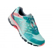 Women's Razor II Lightweight Trail Shoes Caribbean Green Fiery Coral