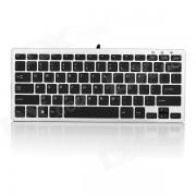 Ergonomico Ultra-Slim USB con cable de 78 teclas del teclado - Negro