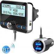 DAB002 Auto DAB Dual USB Opladen Smart Bluetooth Digitale Fm-zender Mp3-speler Car Kit, Ondersteuning Handsfree Call & Tf-kaart
