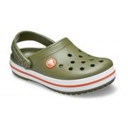 Crocs Crocband™ Klompen Kinder Army Green / Burnt Sienna 25