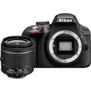 Nikon D3300 24.2MP Digital SLR Camera Black with AF-P DX NIKKOR 18-55mm f/3.5-5.6G ED VR Lens Memory Card and Camera Bag