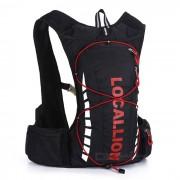 LOCAL LION bicicleta mochila / bolsa de pesca de senderismo - negro (20-25L)